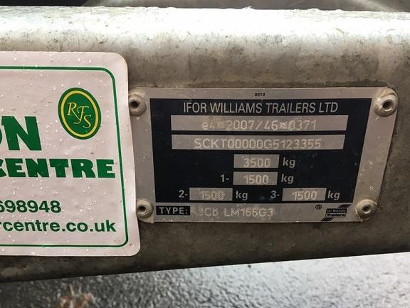 Ifor Williams LM166 Tri Axle