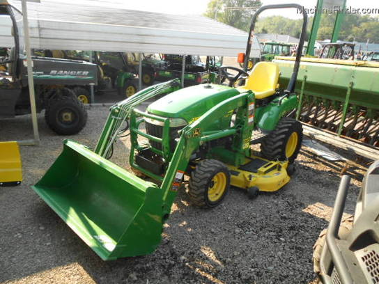 2010 John Deere 2305 MFWD LOADER MID MOUNT MOWER VERY NICE TRACTOR ONLY 132 HOURS