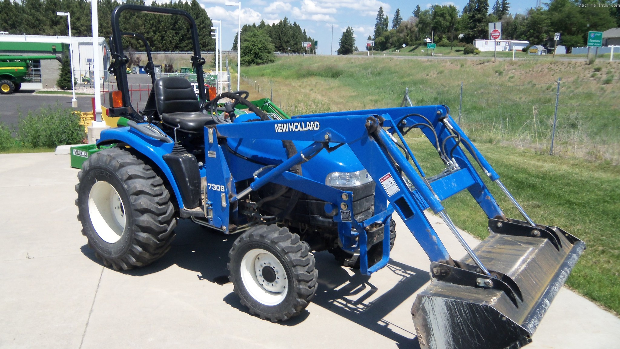 New Holland 7308 loader Manual on