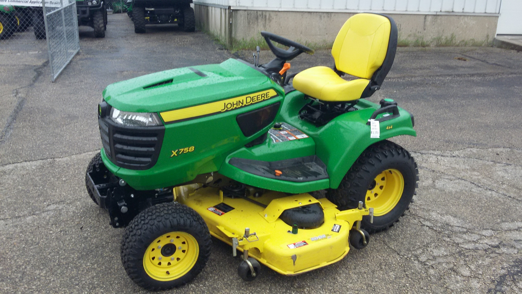 John deere x758 lawn garden tractors for sale 58865 for Lawn and garden implements