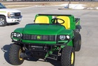 2004 John Deere HPX 4X4 Gator with power hoist, brush guards, bedliner.