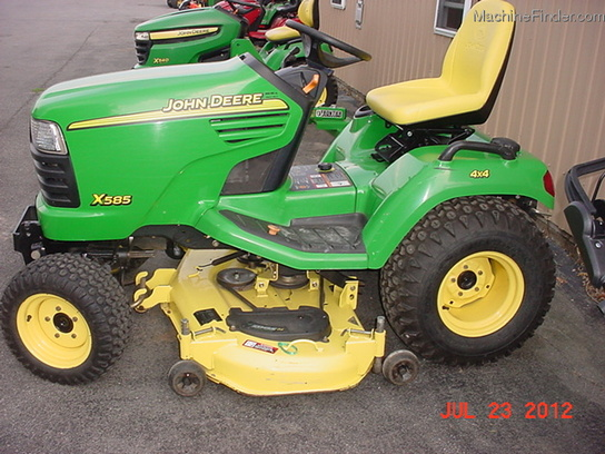 2003 john deere x585 lawn garden and commercial mowing john deere machinefinder for Bairs lawn and garden