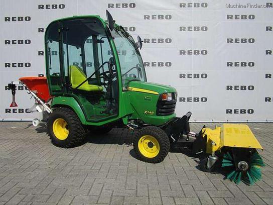 2012 john deere x748 kompakttraktor tractors compact 1. Black Bedroom Furniture Sets. Home Design Ideas
