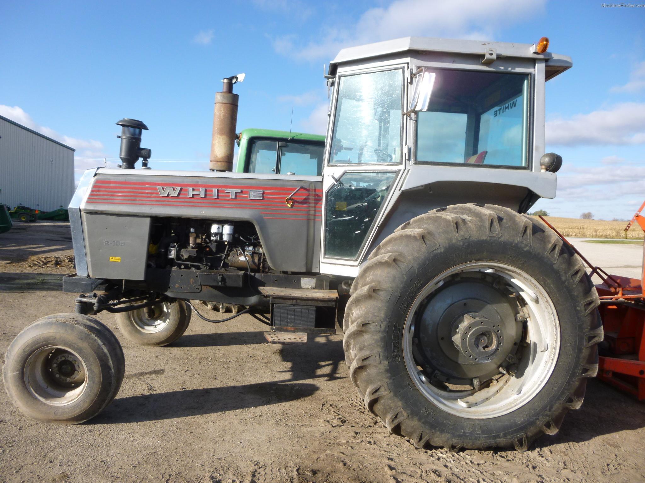 White Tractor Dual Wheel Hubs : White tractors row crop hp john deere