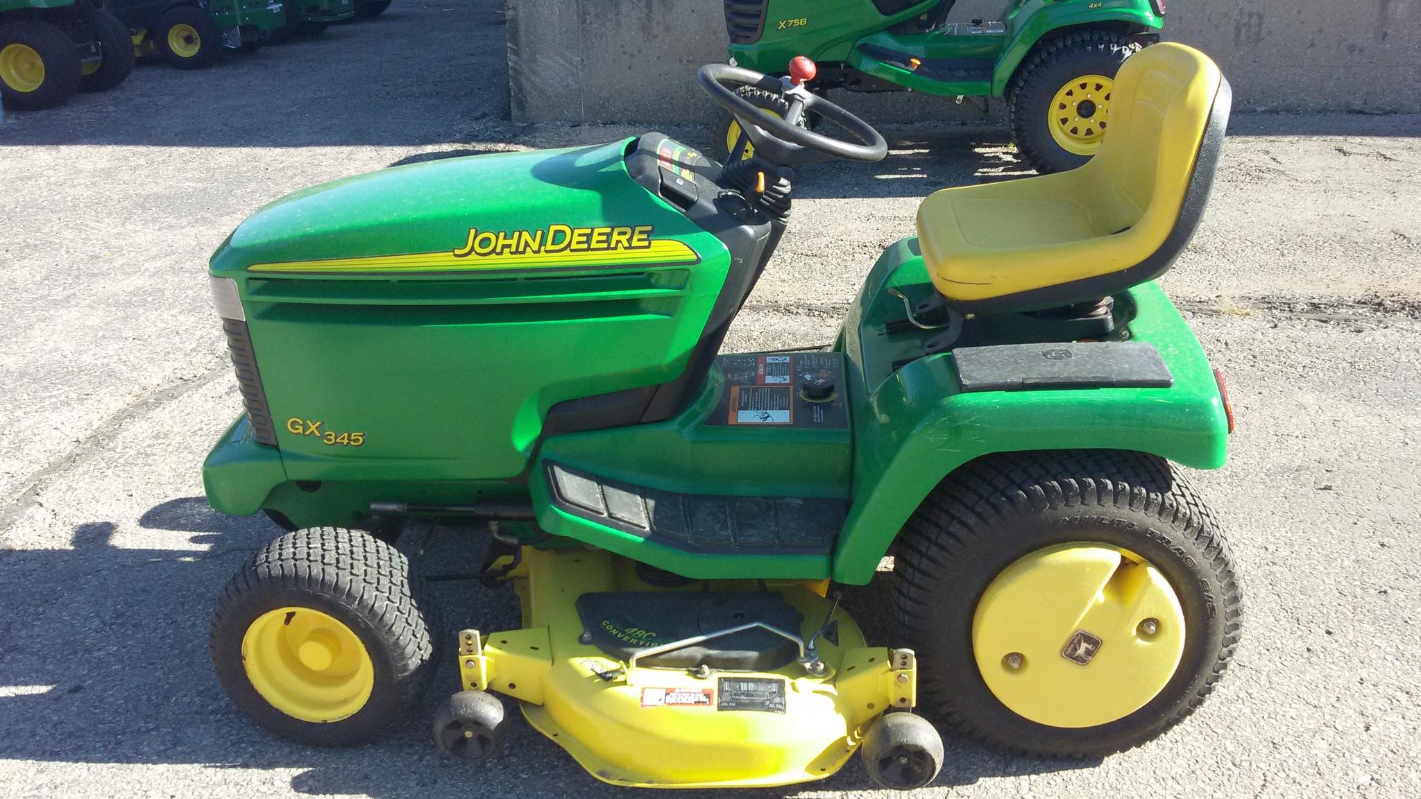 John Deere 345 Lawn Garden Tractors For Sale 64819