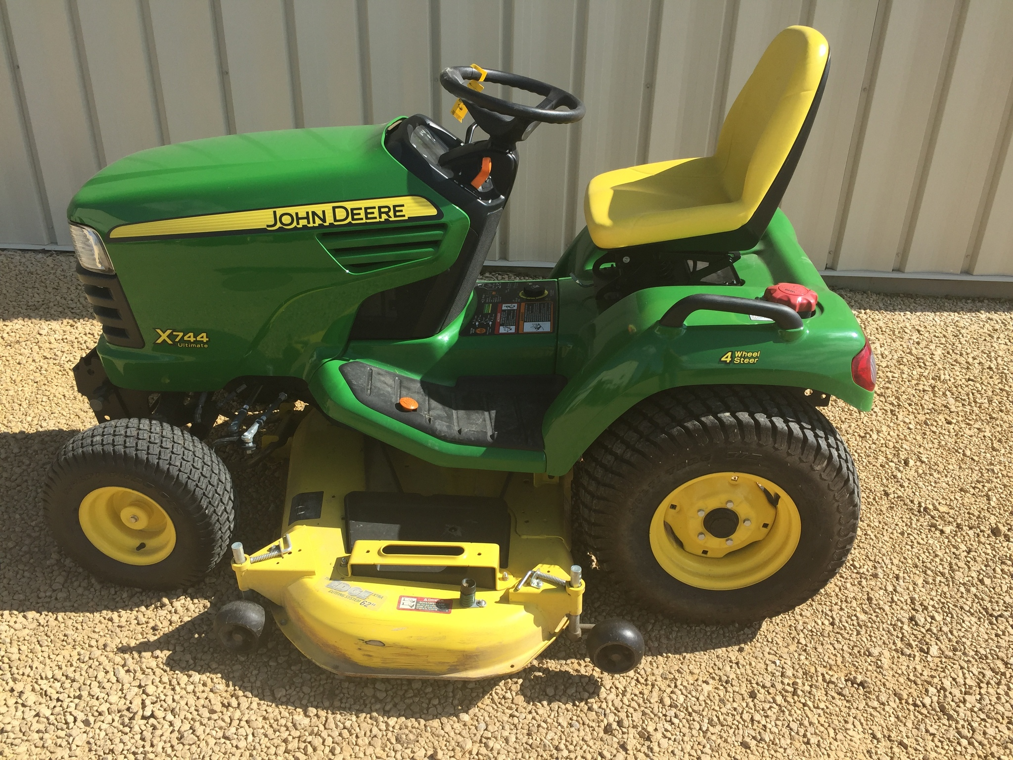 John deere x744 lawn garden tractors for sale 59731 for Garden machinery for sale