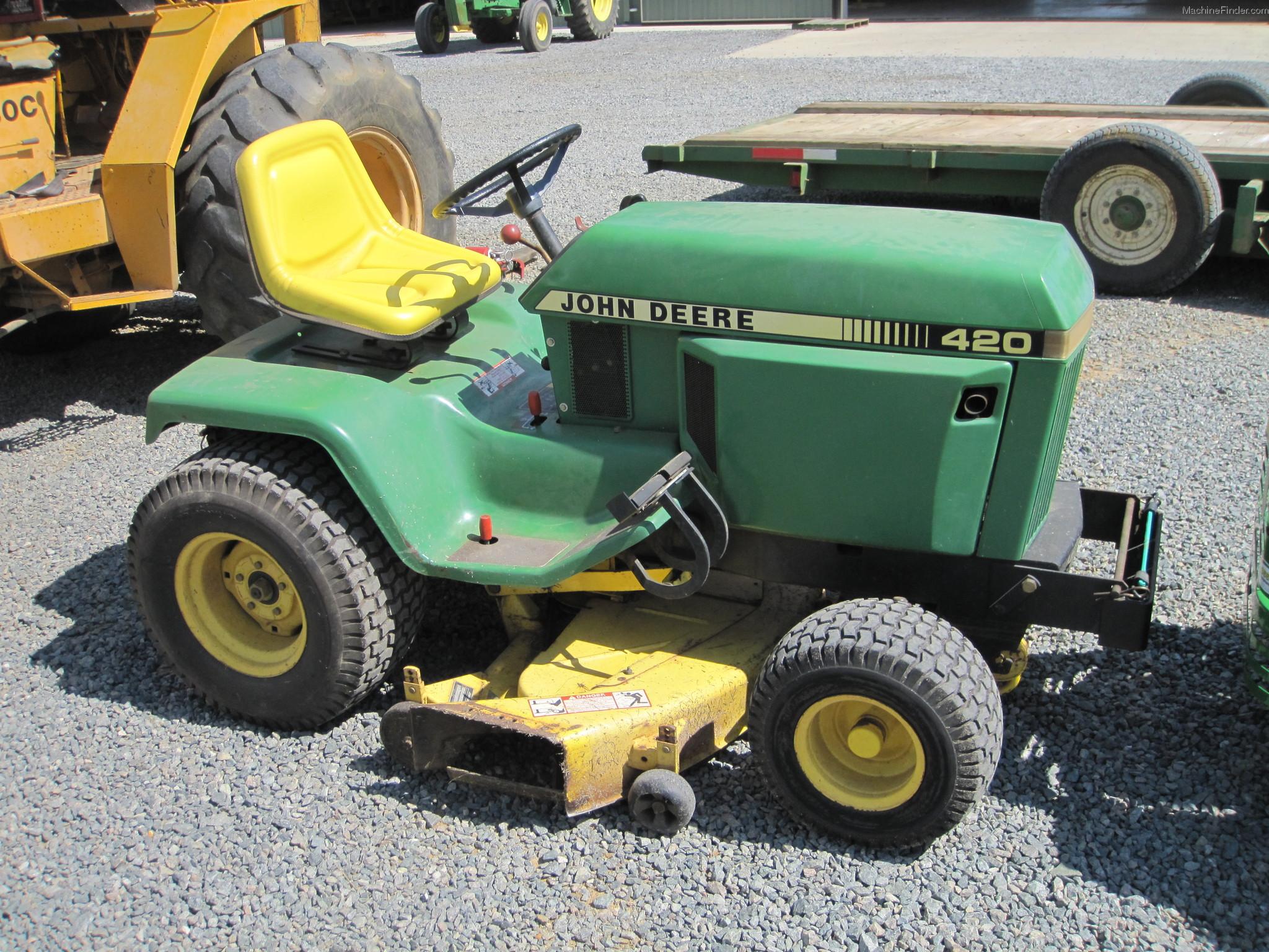 1992 John Deere 420 Lawn Garden And Commercial Mowing John Deere Machinefinder