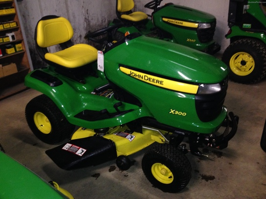 John Deere X300 Lawn Tractor : John deere lawn garden and commercial mowing