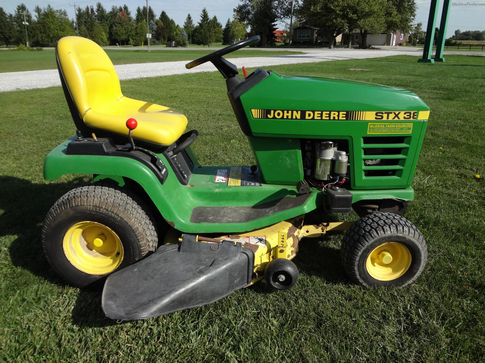 John Deere Stx 38 : John deere stx gear drive belt yellow deck