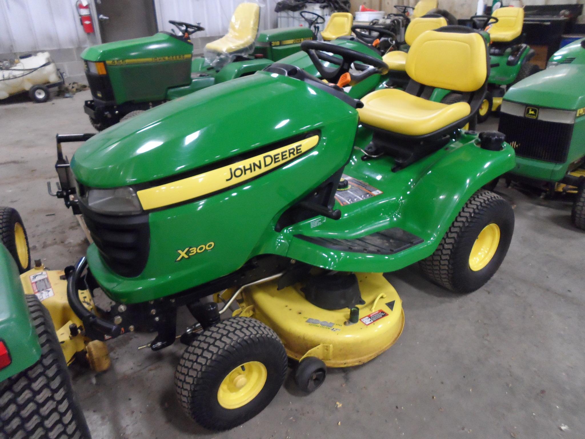 John Deere X300 Lawn Tractor : John deere lawn garden tractors for sale