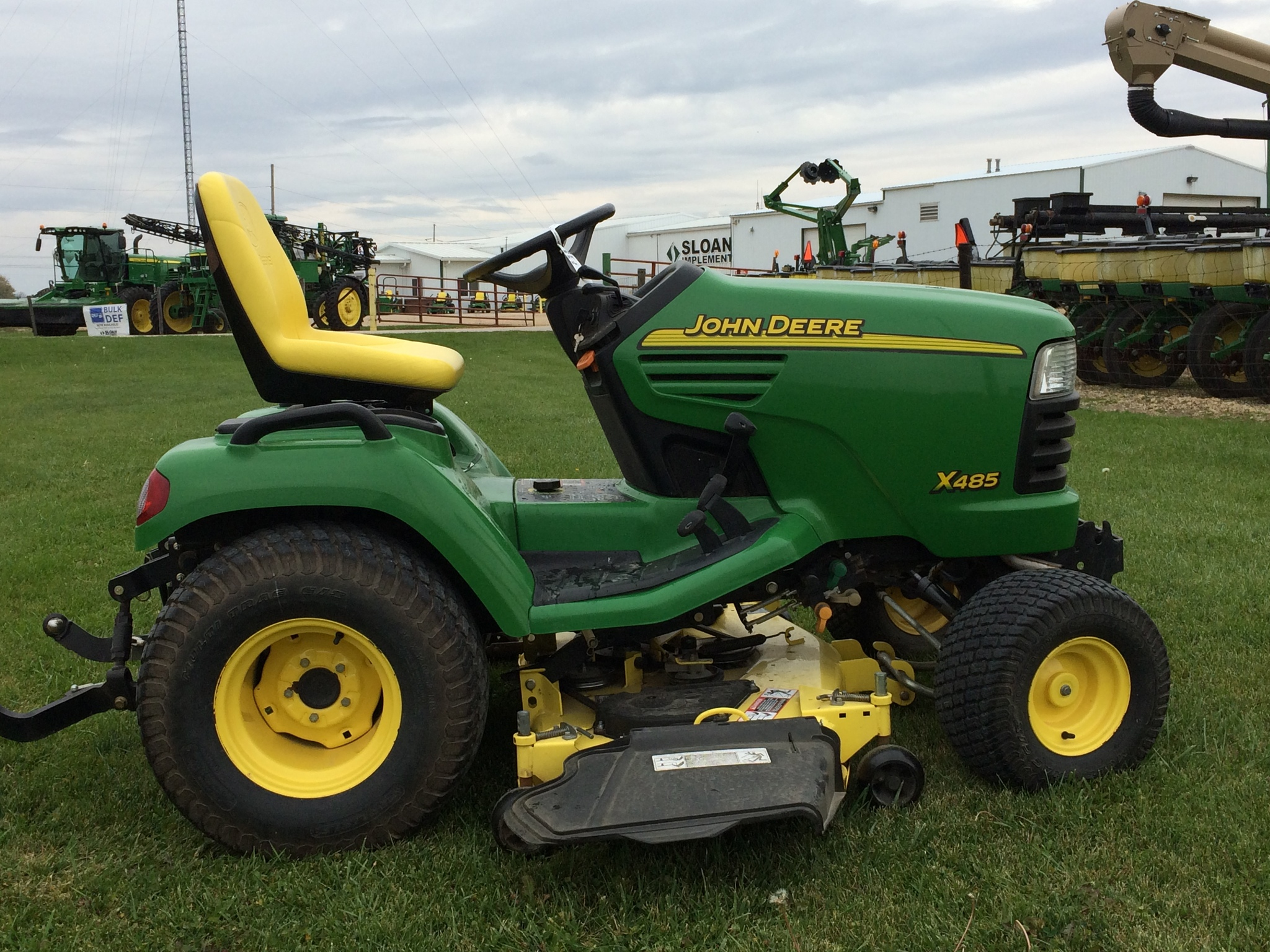 John deere x485 lawn garden tractors for sale 52326 for Garden machinery for sale