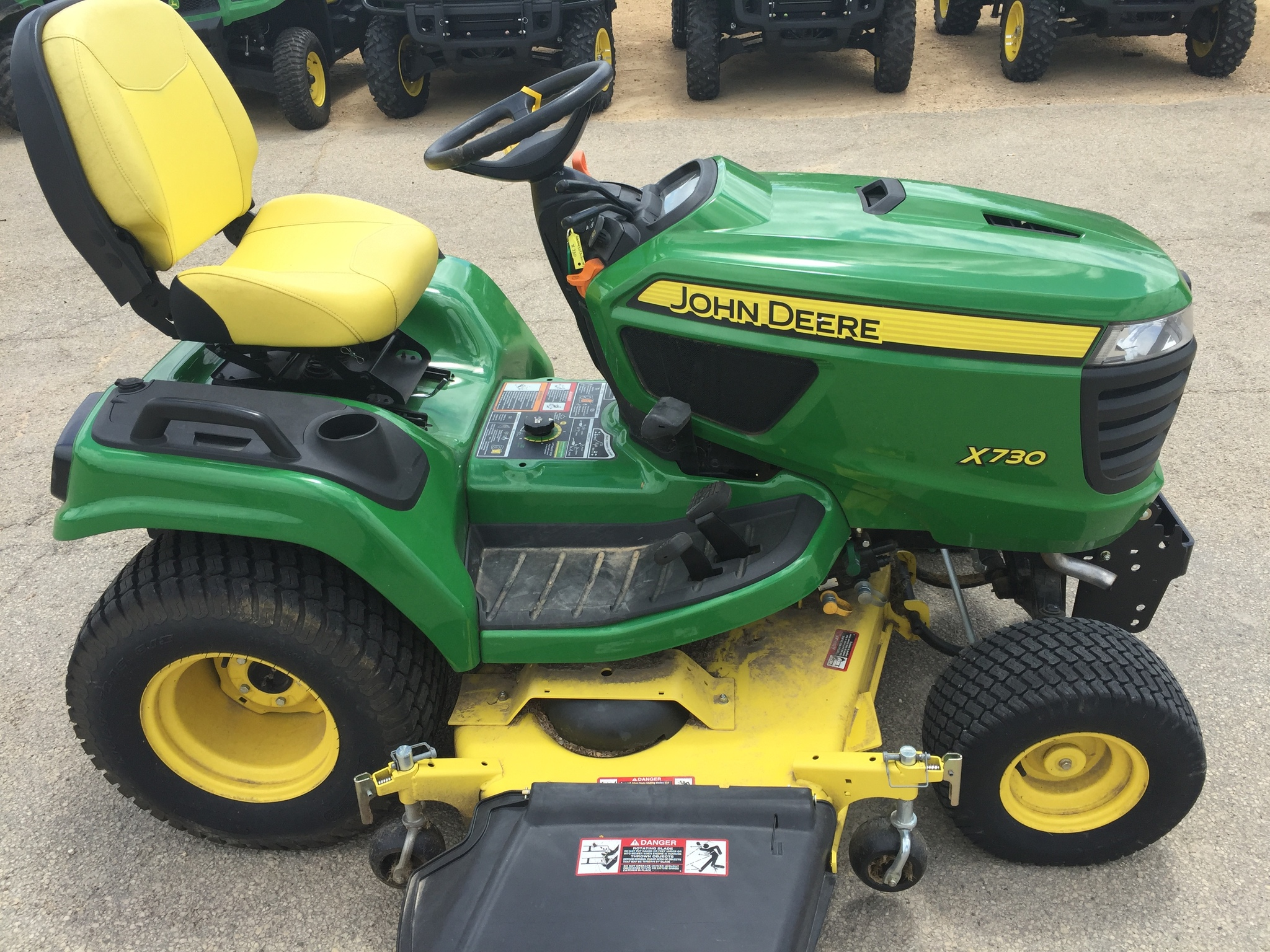 John deere x730 lawn garden tractors for sale 59771 for Garden machinery for sale