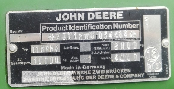John Deere 1188 H