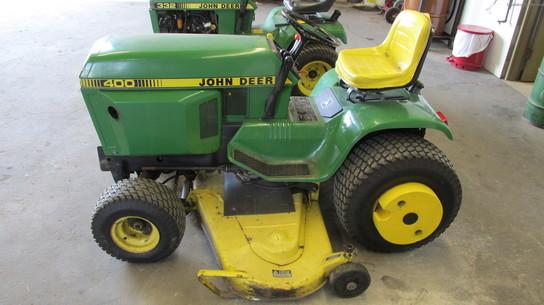 John Deere 400 Garden Tractor Attachments : John deere lawn garden and commercial mowing