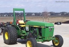 1983 John Deere 2350 2WD Turf Special, with wide tires and low-profile