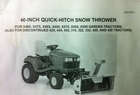 2003 John Deere 46 Quick-Hitch Snowthrower