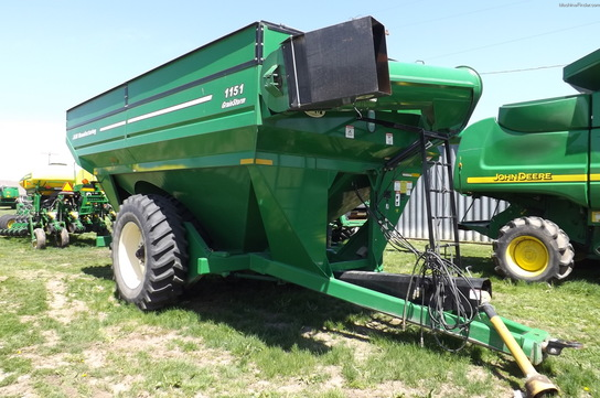 2008 J&M 1151 GRAIN CART WALKING TANDEM TARP AND SCALE