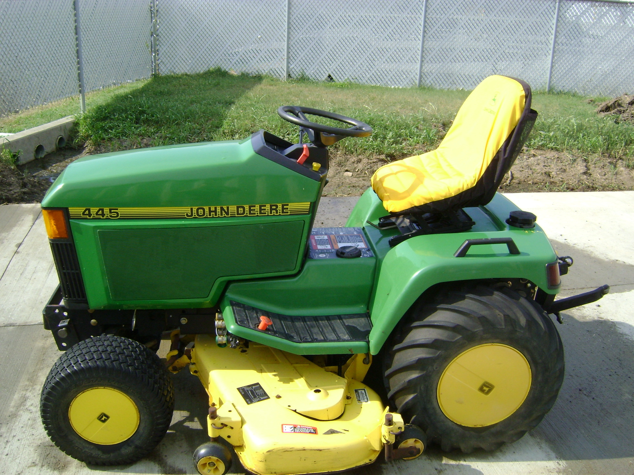 Lawn Tractor With Rear Pto : John deere w pt rear pto quot front blade lawn
