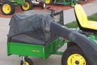 "2003 John Deere MC519 Collection Cart with 54"" PowerFlow blower and chute"