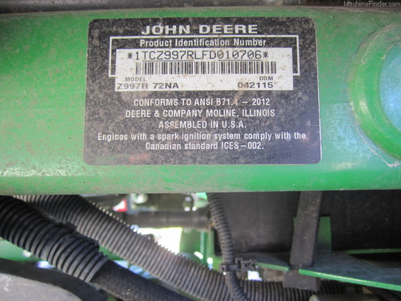 2015 john deere z997r zero turn mowers john deere machinefinder sciox Images