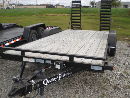 2014 quality pro wood deck car hauler trailer john deere machinefinder. Black Bedroom Furniture Sets. Home Design Ideas