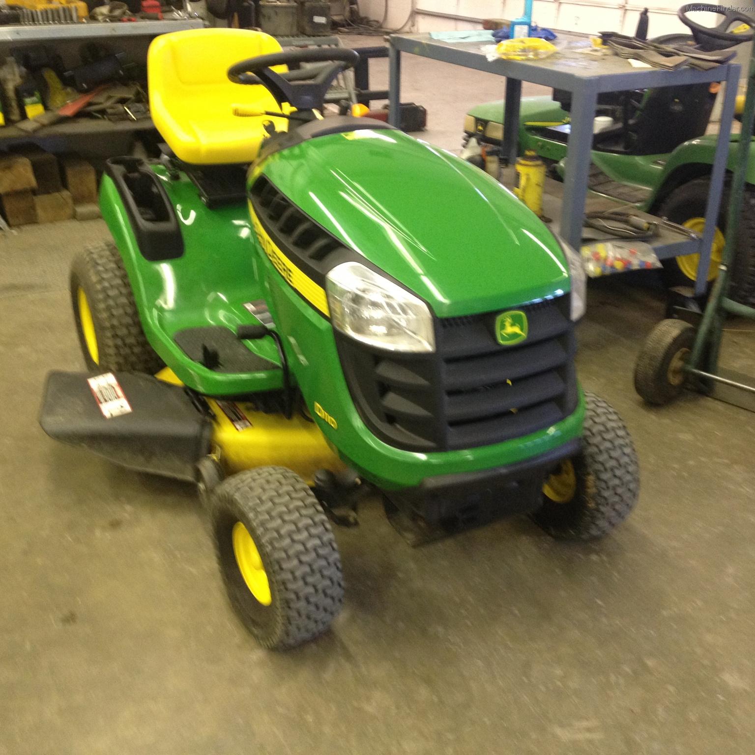 2012 john deere d110 lawn  u0026 garden and commercial mowing