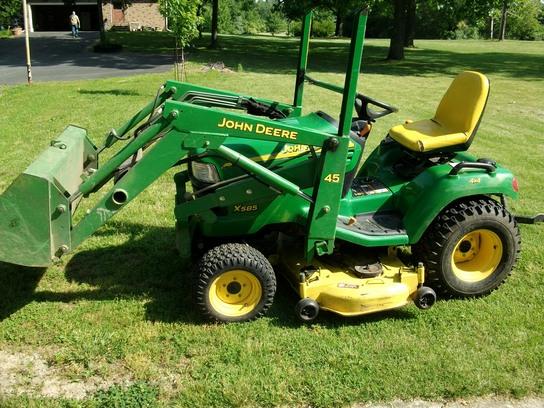 John Deere Garden Tractors 4x4 : John deere garden tractor deck kawasaki efi