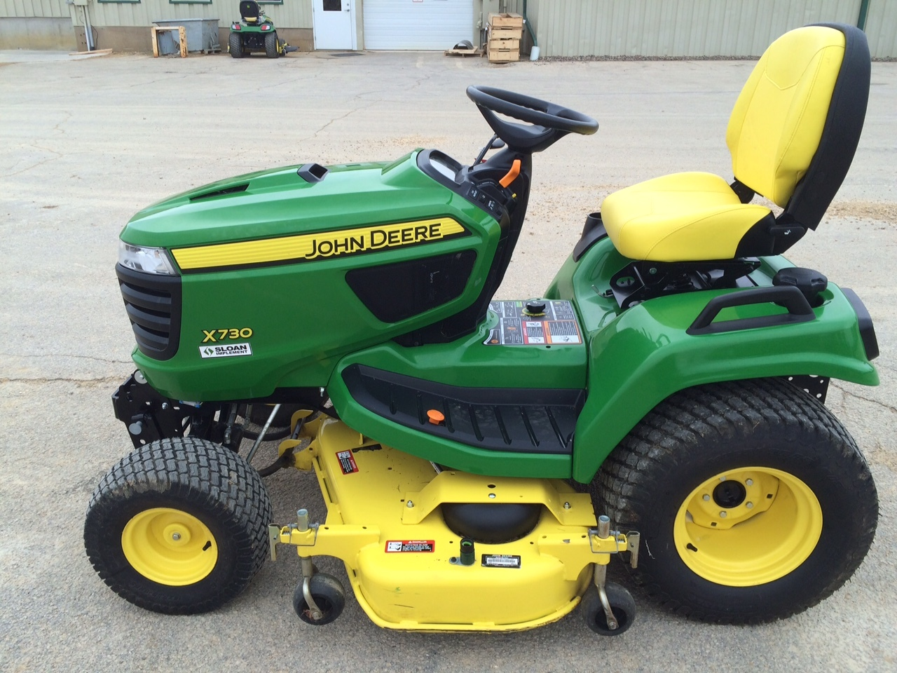 John deere x730 lawn garden tractors for sale 53708 for Lawn and garden implements