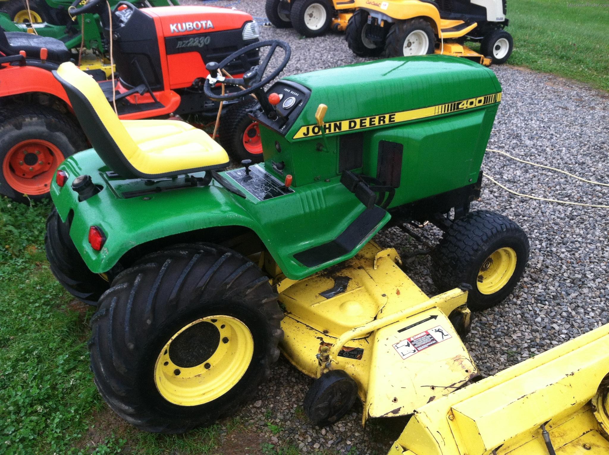 John Deere 400 Garden Tractor Attachments : Tweet