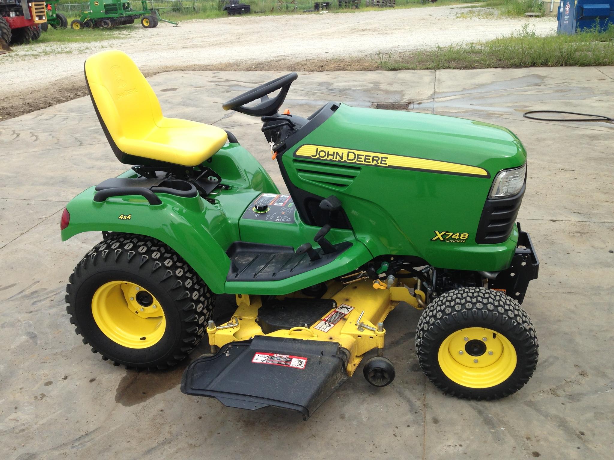 John Deere X748 Lawn Garden Tractors For Sale 49488