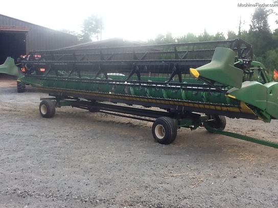 John Deere 630FLEX WITH HORST HEADER TRAILER
