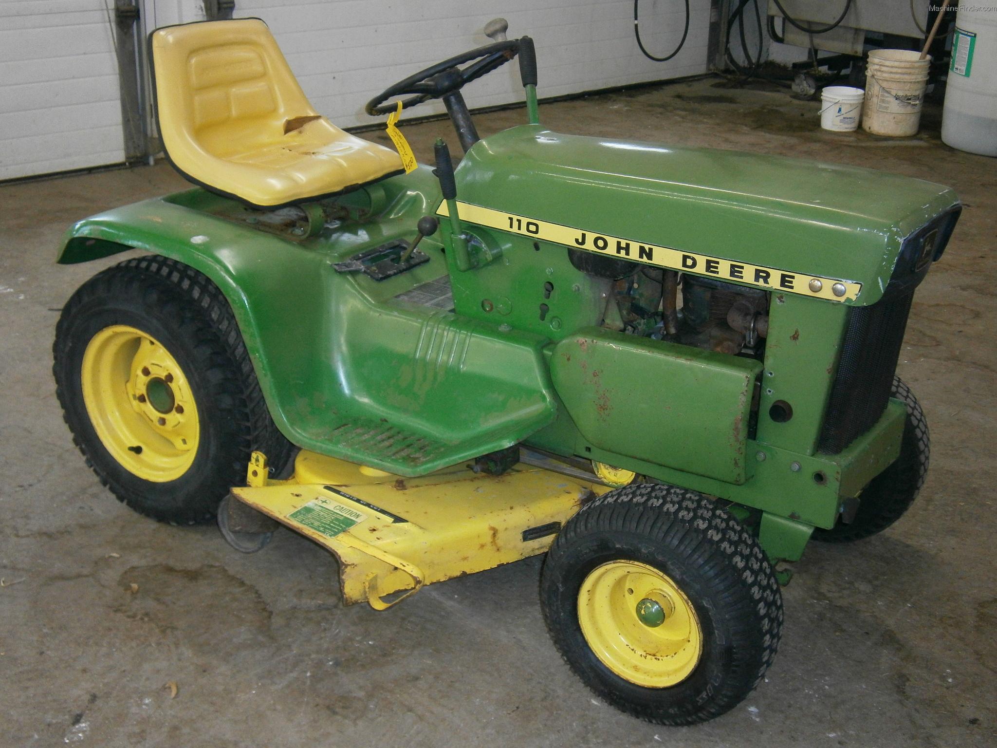 1968 John Deere 110 Lawn  U0026 Garden And Commercial Mowing