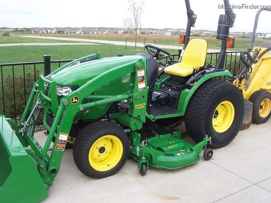 John Deere 62d Mower Deck : John deere compact tractor with cx loader and