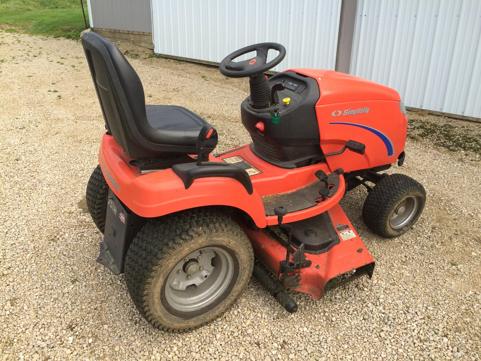 Simplicity prestige lawn garden tractors for sale 66358 for Lawn garden equipment