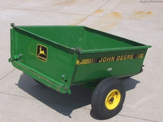 John Deere Lawn Tractor Wagon : John deere model dump cart attachments for lawn
