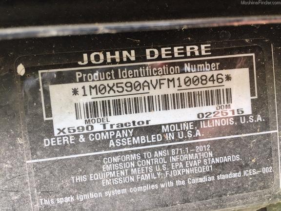 John Deere X590