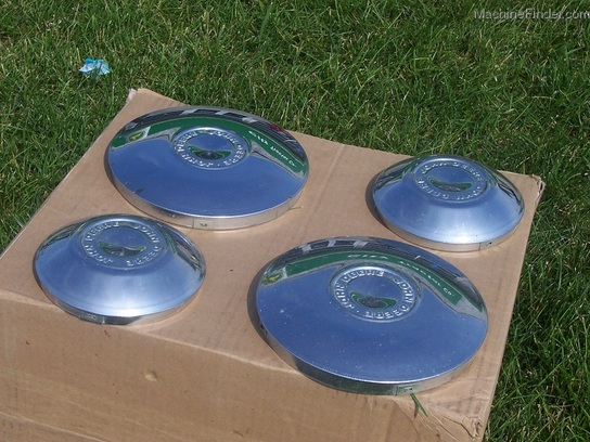 Lawn Mower Wheel Covers Chrome : John deere jd chrome wheel covers set of four quot and