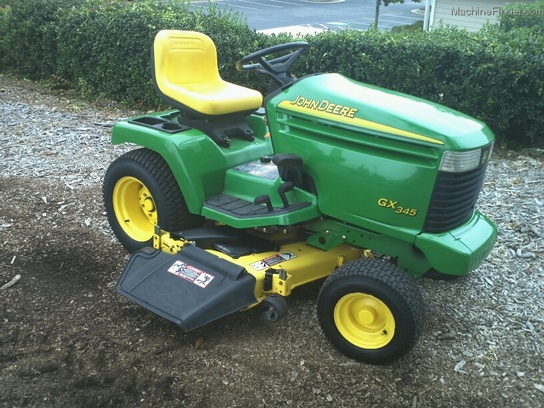 2002 John Deere GX345 Garden Tractor Lawn & Garden and ...