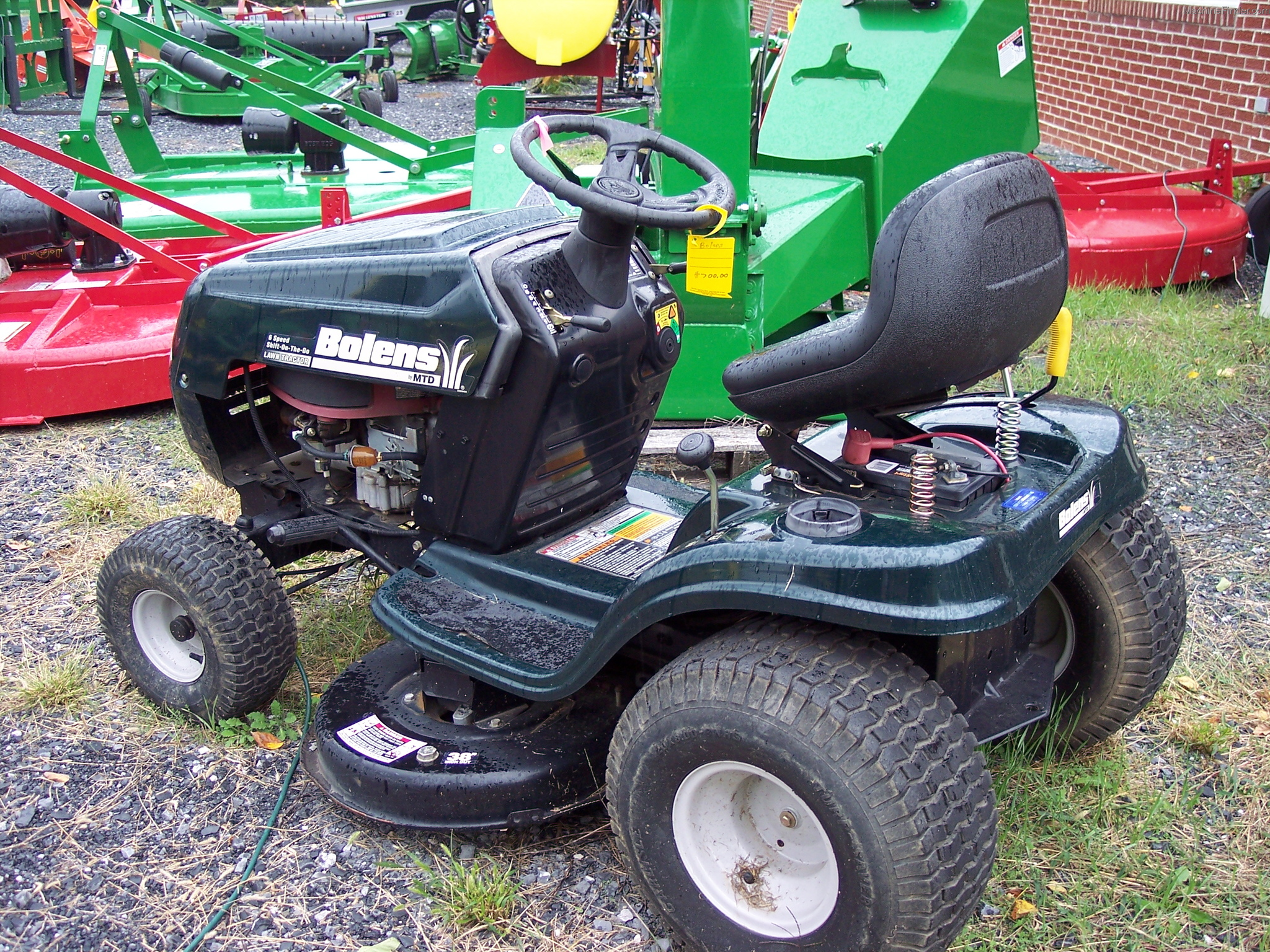 Tractor bolens riding lawn mowers pictures to pin on for Lawn and garden implements