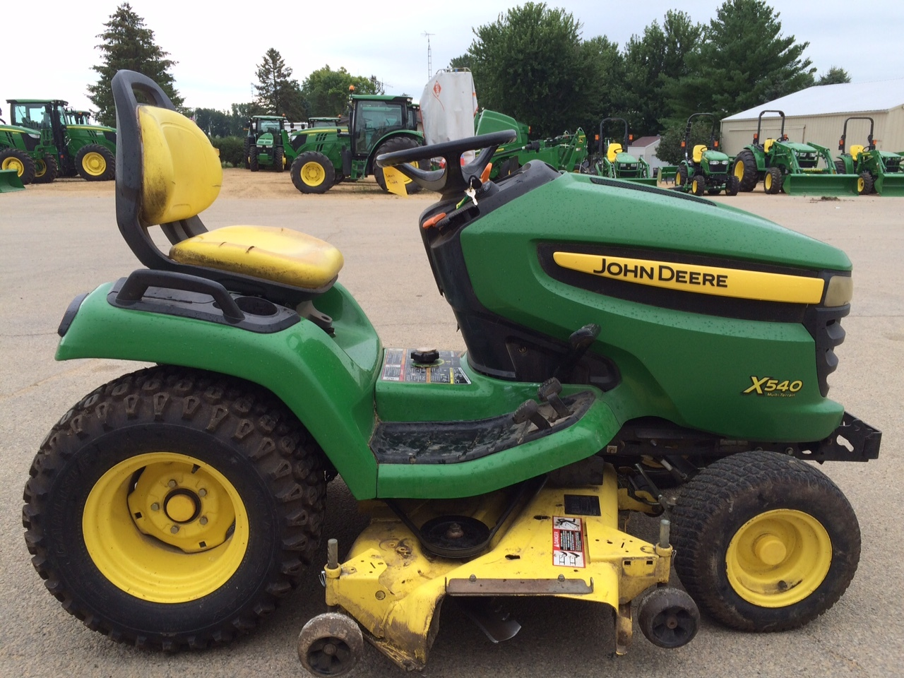 John deere x540 lawn garden tractors for sale 49468 for Garden machinery for sale