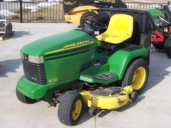 "1997 John Deere 345 L&G tractor with 54"" mower (no bagger)"
