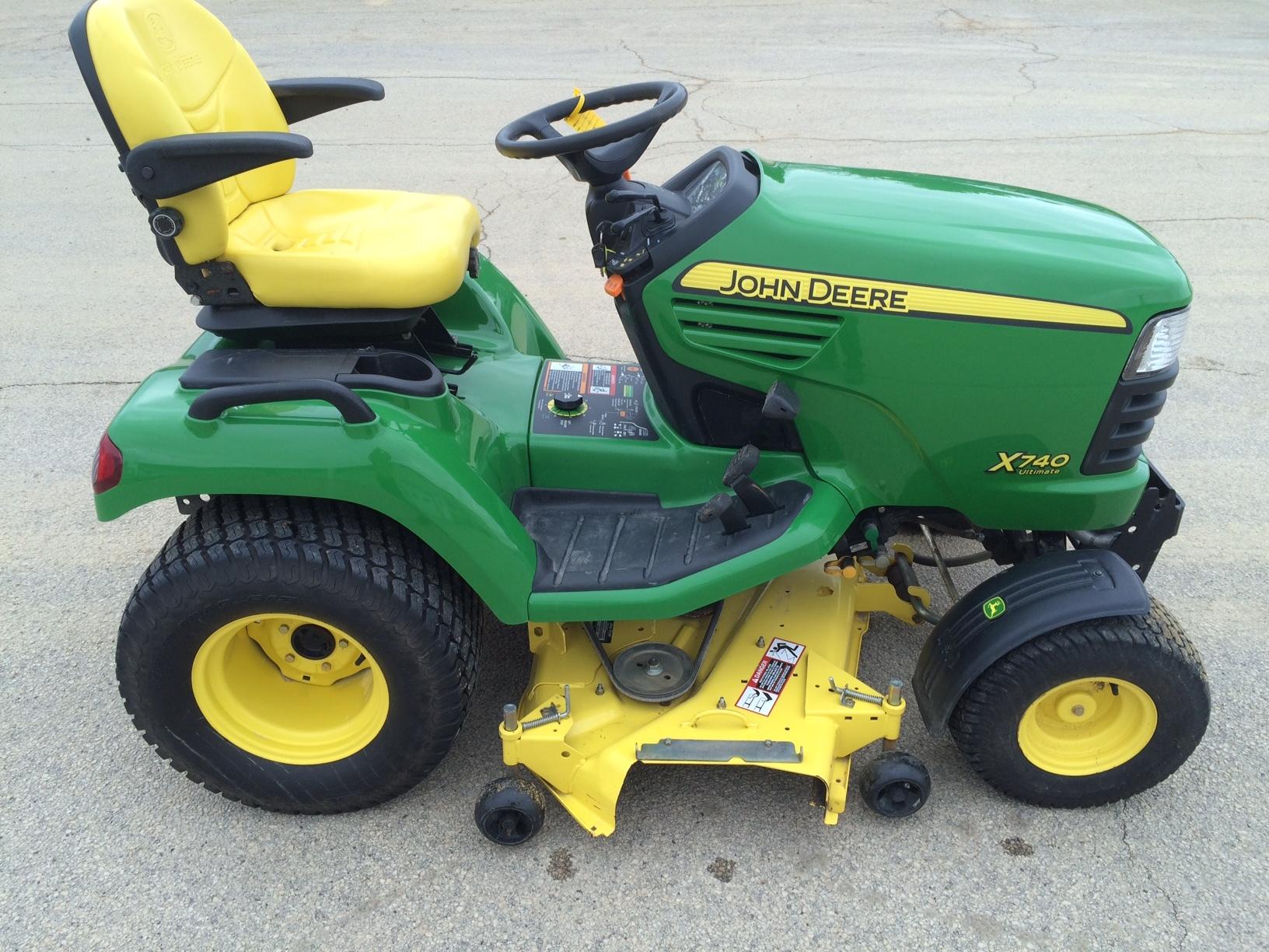 John Deere X740 Lawn Garden Tractors For Sale 55061