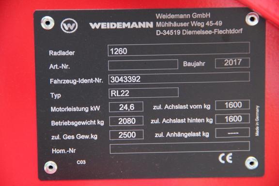 Weidemann 1260 PLUS COMPACT LOADER